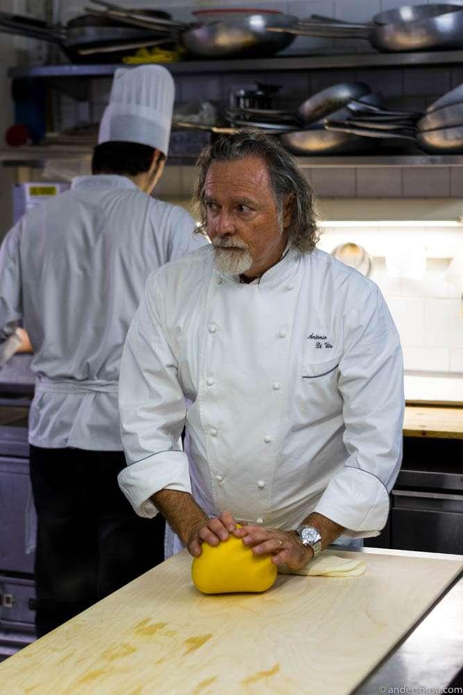 Head chef Antonio Di Vita at Parma Rotta