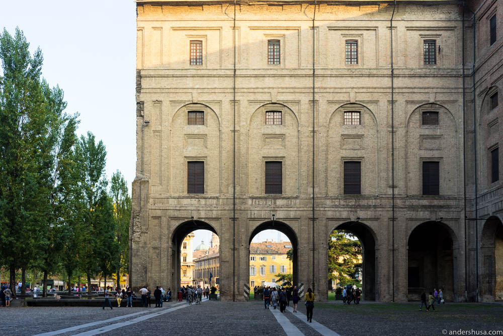 Palazzo della Pilotta, home of the Teatro Farnese, in Parma city