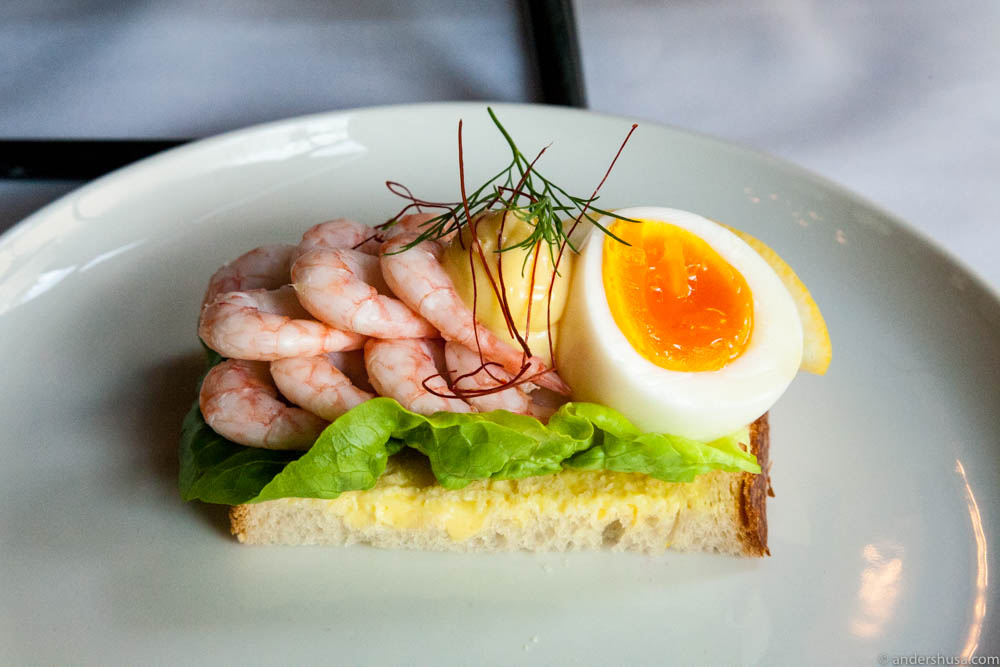 Hand-peeled shrimps, boiled egg, mayo & lemon on sourdough