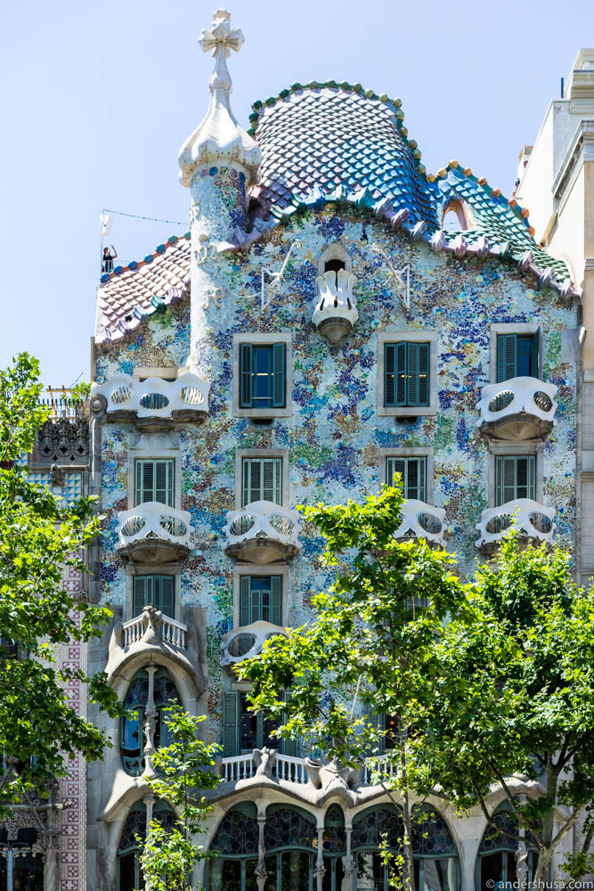 Casa Batlló by the famous Catalan architect Antoni Gaudí