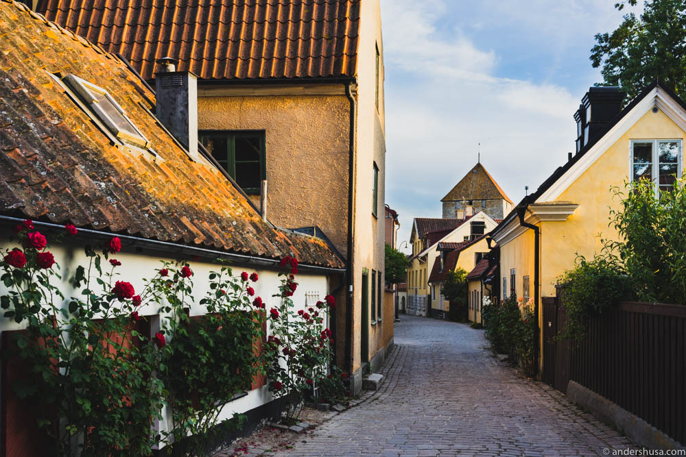 The charming streets of Visby