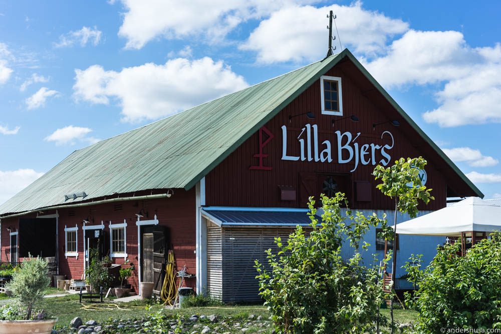 Lilla Bjers farm shop and greenhouse restaurant