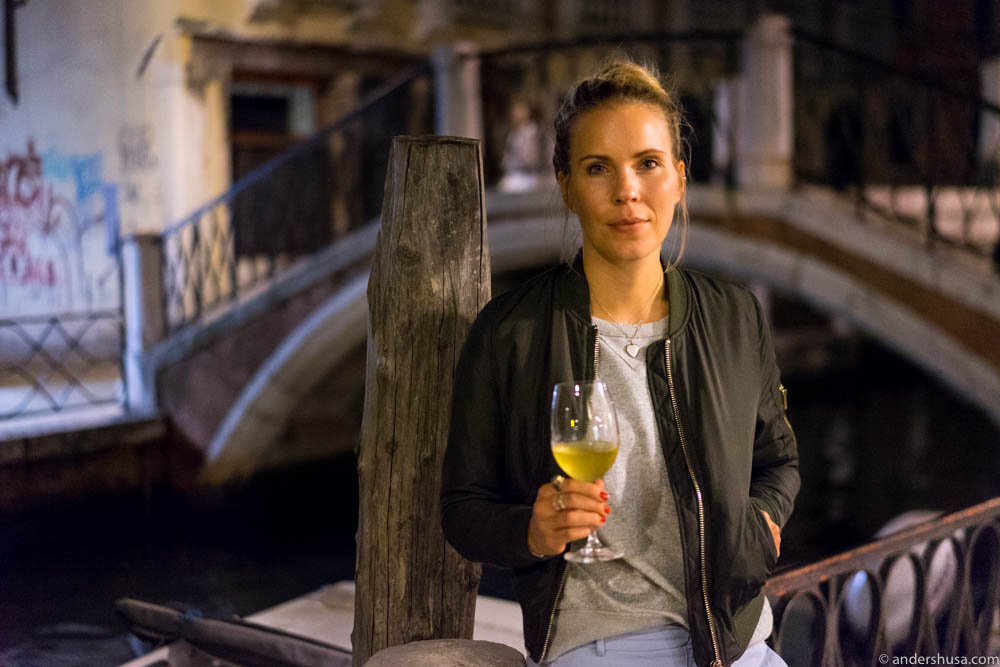 The first glass of wine in Venice – and maybe the most memorable