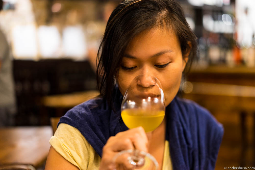 Mmm ... Michelle loves natural wine