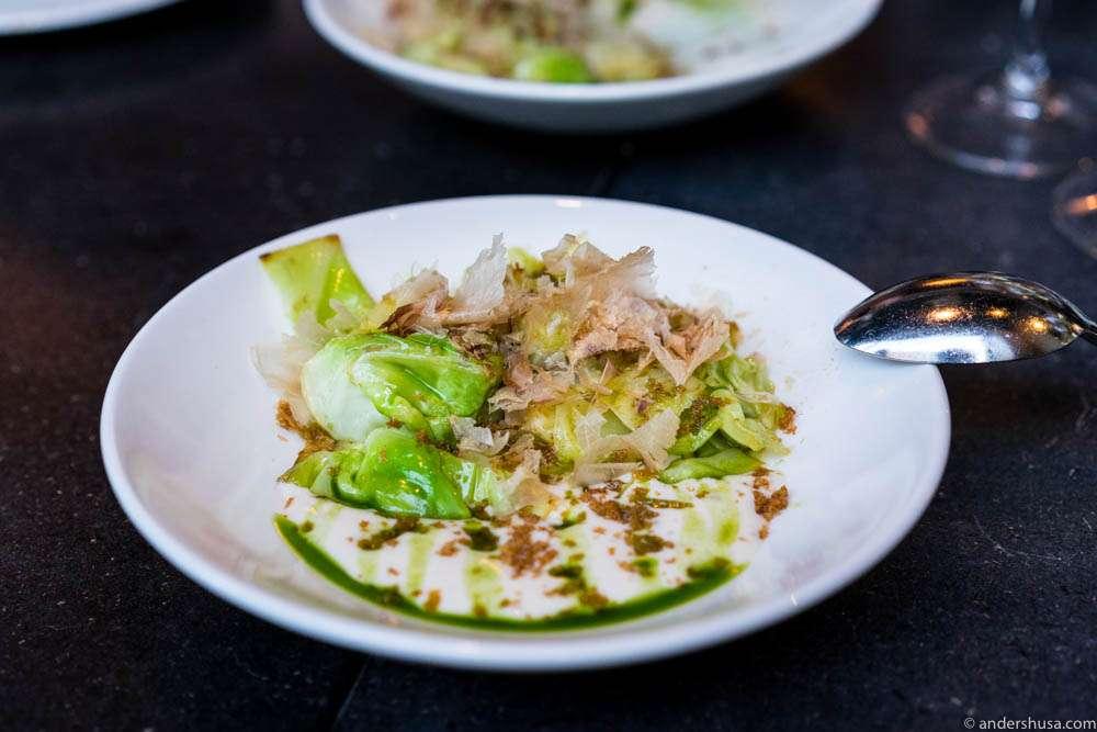 Cabbage & katsobushi.