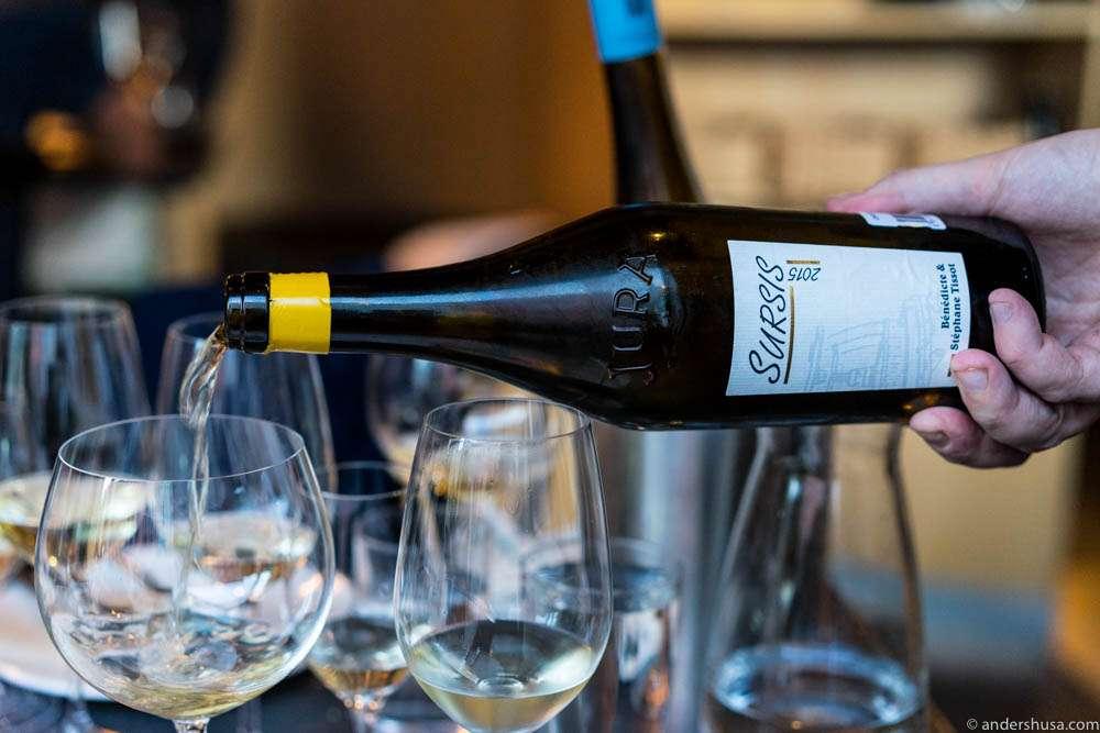 2015 Bénédicte et Stéphane Tissot, Sursis, Côtes du Jura, Chardonnay.