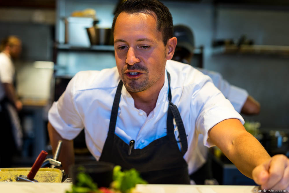 Head chef and co-owner, Sebastian Myhre