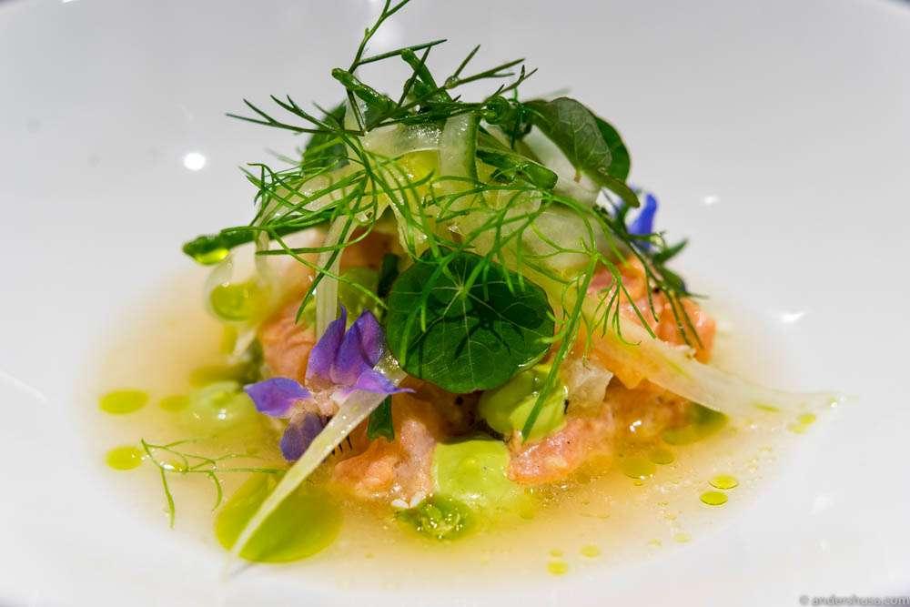 Elegant Nordic bistro food