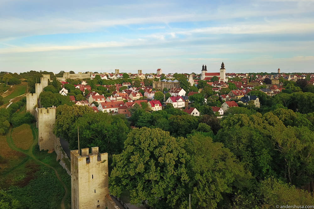 Visby from the air