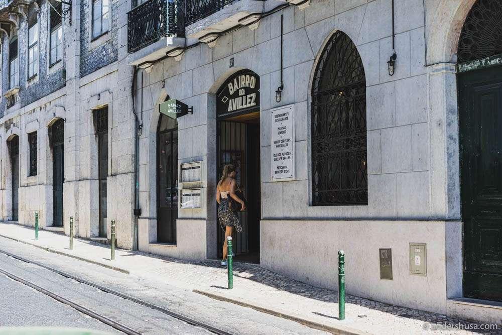 Entrance to Bairro do Avillez in the Chiado district