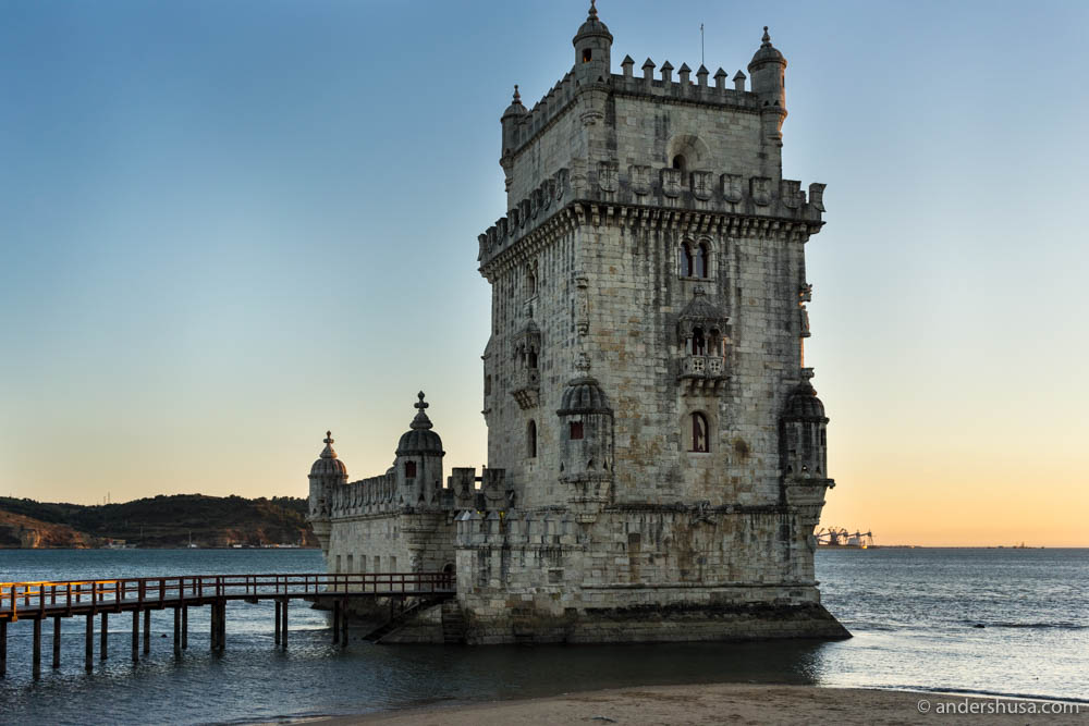 Don't miss the sunset on Belém Tower before your dinner!