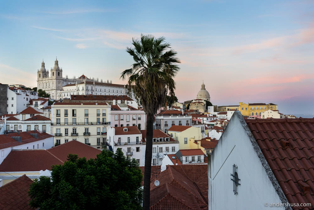 View of the Alfama district – the old town of Lisbon
