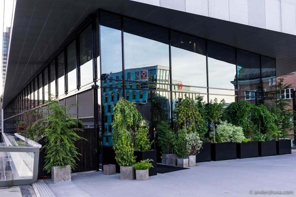 The exterior of Maaemo has gotten a green facelift