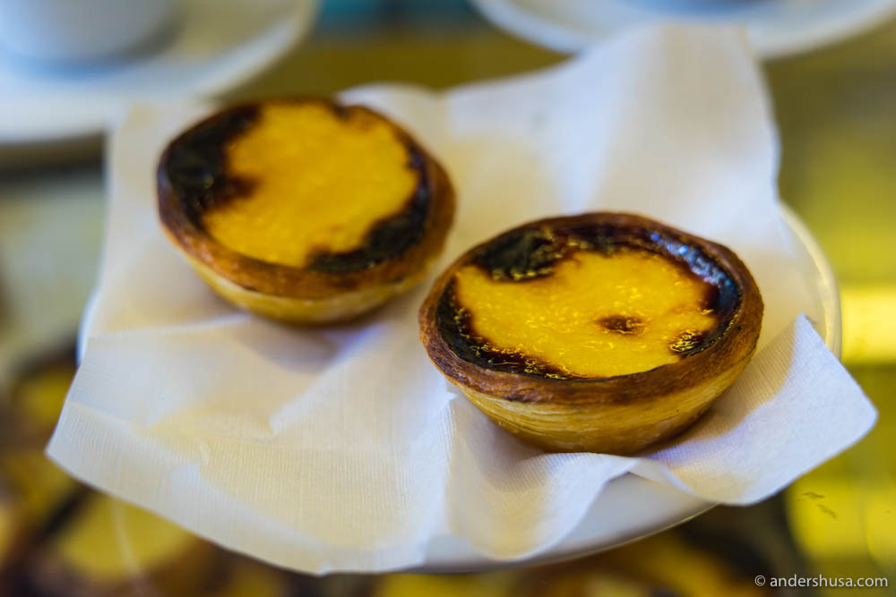 Two perfect pastéis de nata
