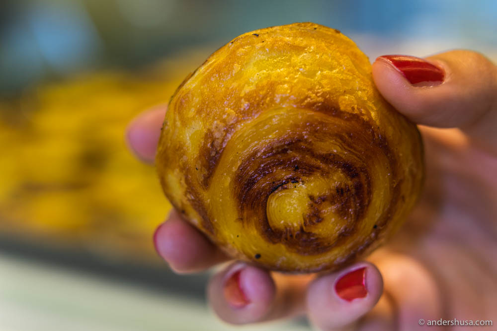Each pastel de nata has a layered, crunchy, and caramelized pastry shell ...