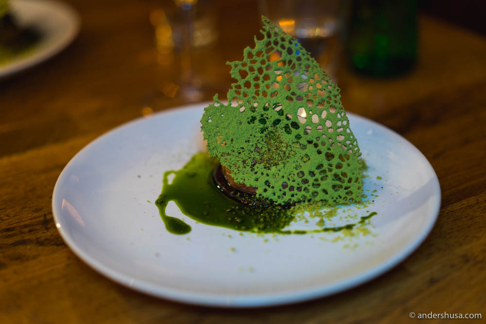 Matcha & chocolate dessert