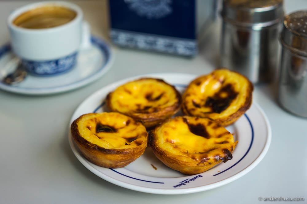 The world famous pastéis de nata