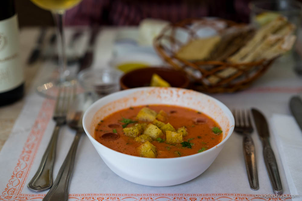 Gazpacho – cold tomato soup