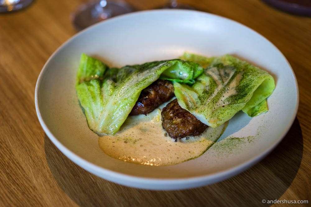 Frikadeller (Danish meatballs), summer cabbage & nutmeg