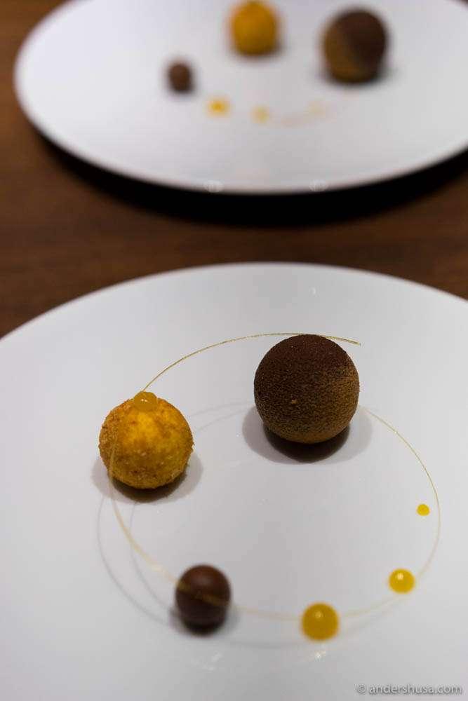 Praline, cremeux & mandarin