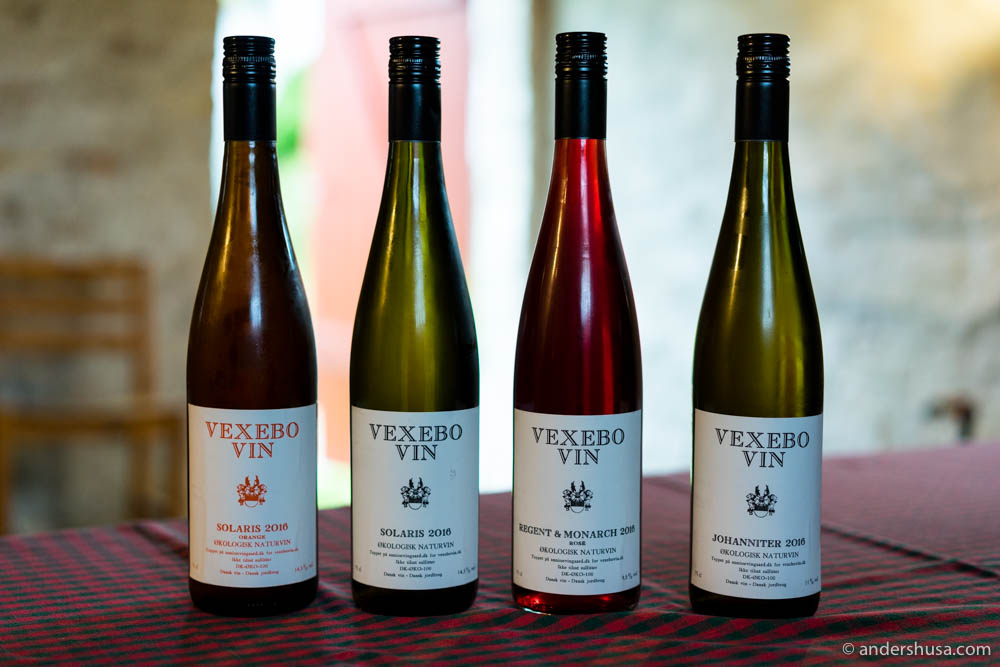 The current selection of Vexebo Vin