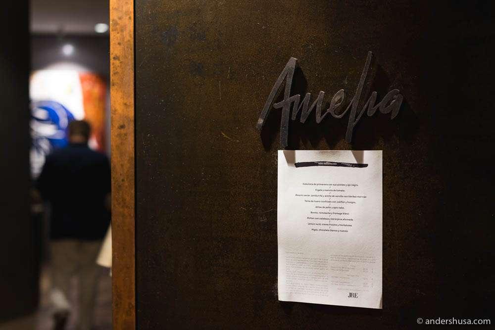 Restaurant Amelia in San Sebastian