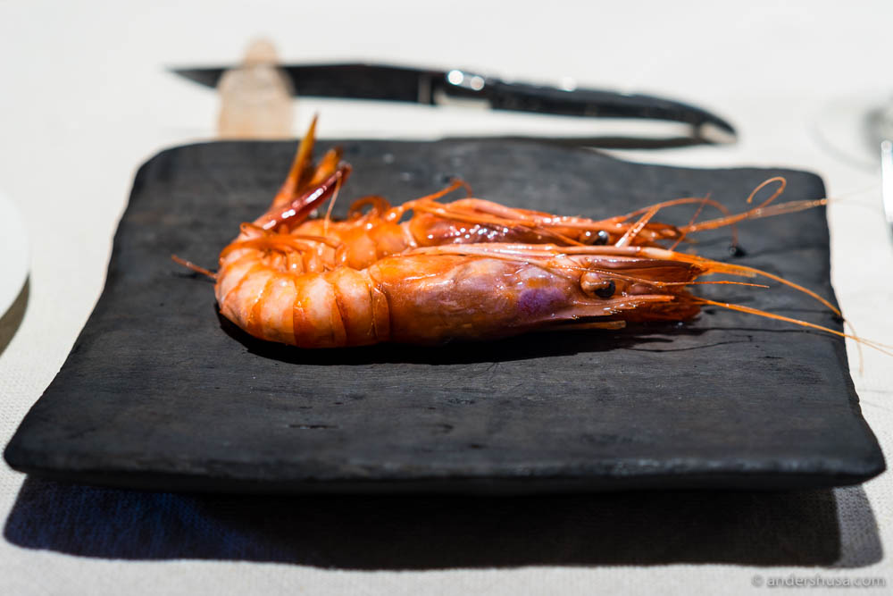 Prawns from Palamós at No. 13 – Asador Etxebarri in Axpe, Spain