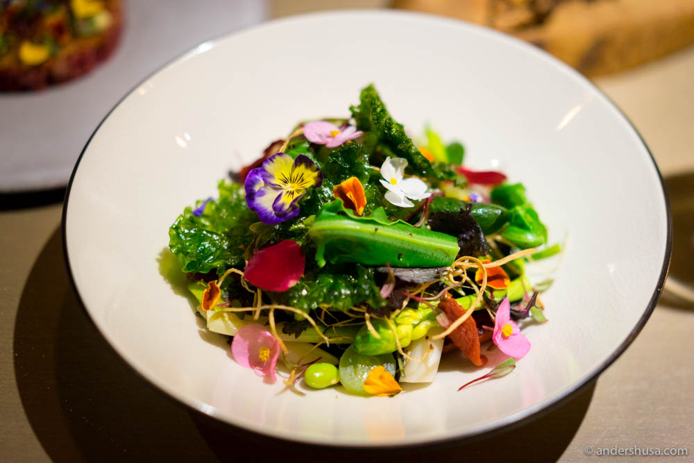Mume salad: 20+ types of seasonal vegetables & fermented black beans at No. 19 – Mume in Taipei, Taiwan