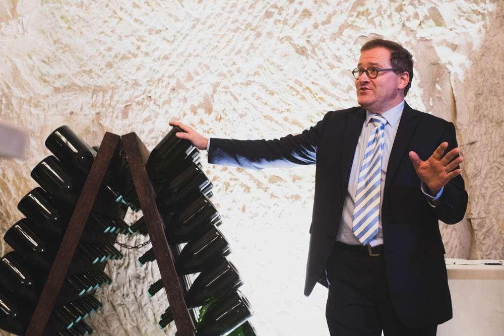 Cyril Brun, Chef de Caves (Cellarmaster) of Charles Heidsieck. Photo credit: @Cardinale