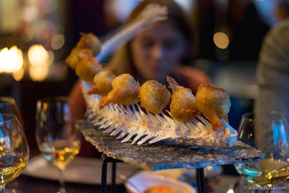 Codfish tempura balls