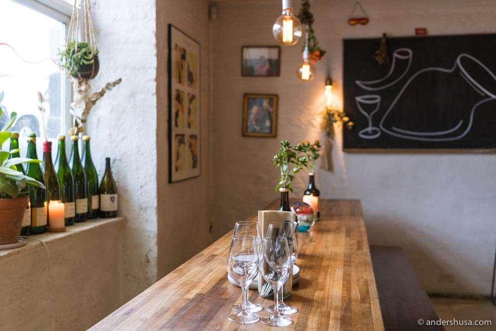 Den Vandrette is one of the coolest natural wine bars in Copenhagen.