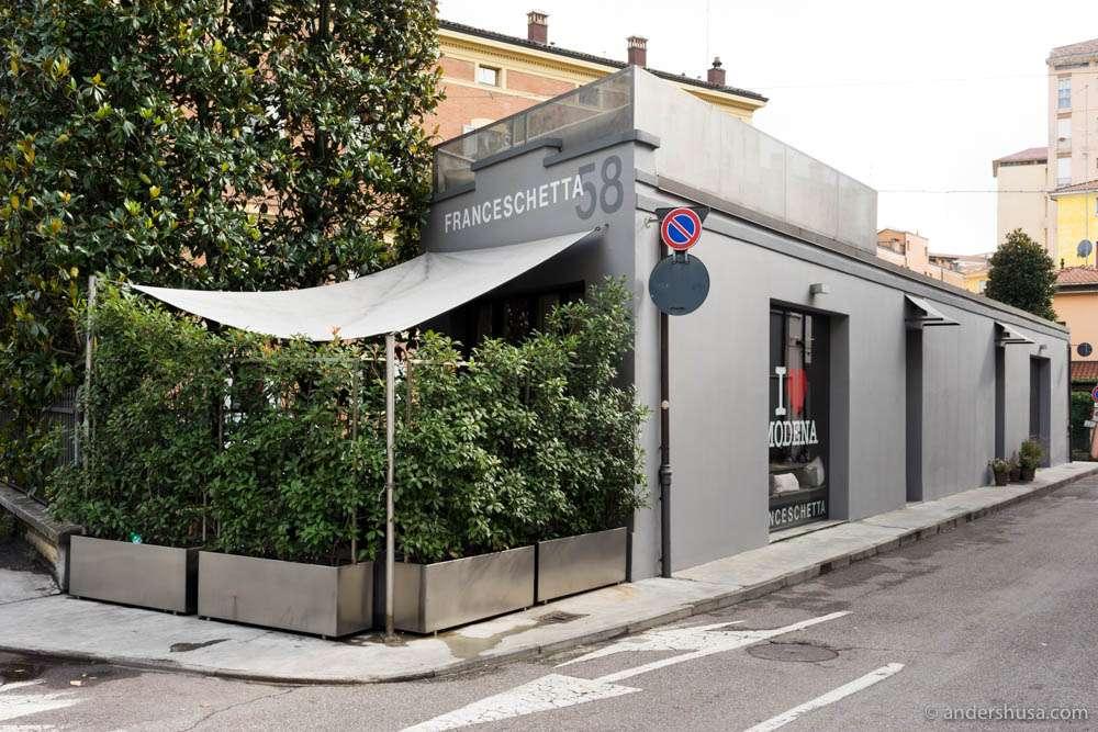 Franceschetta 58 –located in an ex-tire shop
