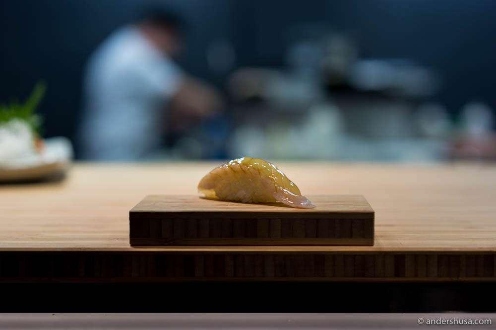 Hamachi with soy-bushi glaze