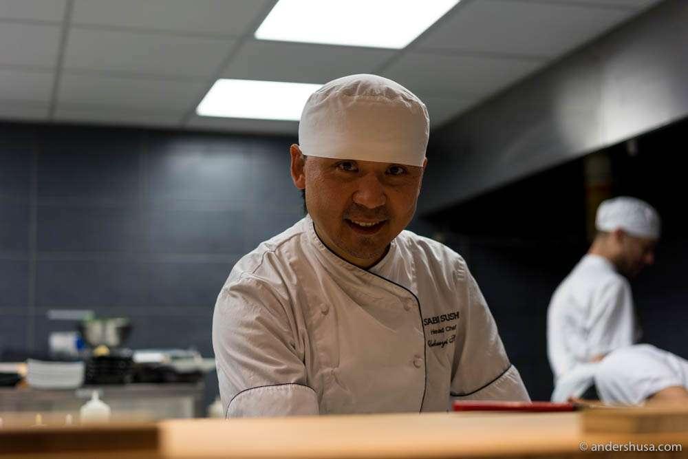 Omakase chef Alekseyi Shegai