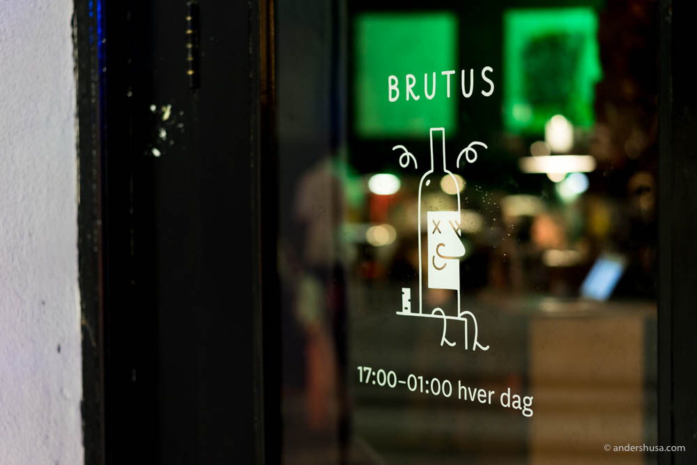Scene of the event: Bar Brutus