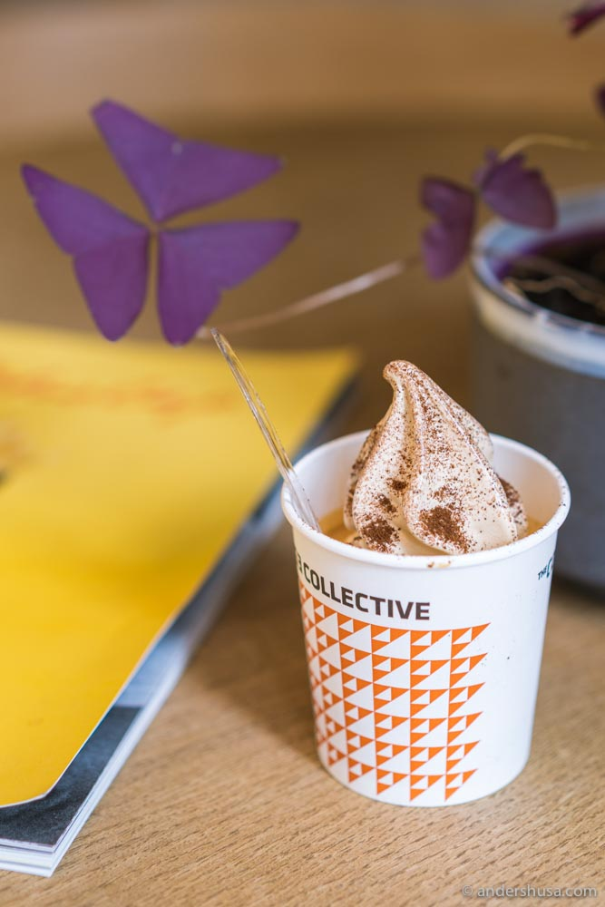 The espresso soft serve from Coffee Collective.