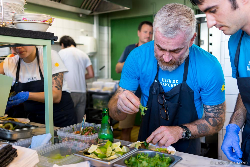 Chef Alex Atala in action.
