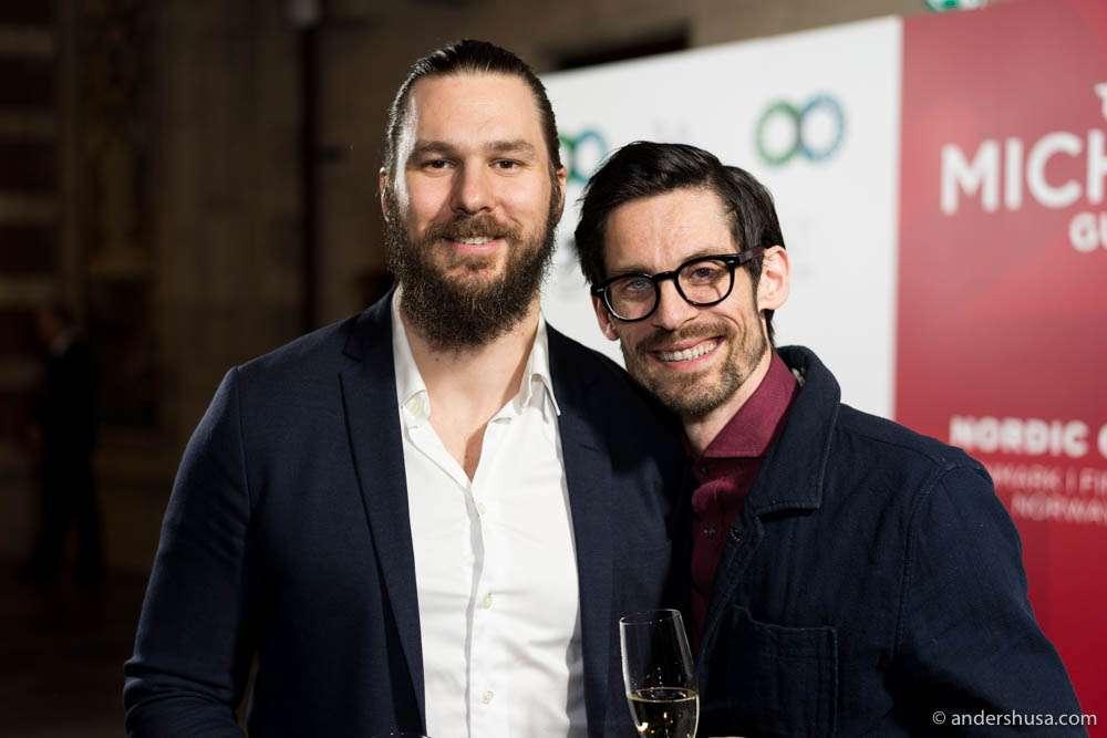 Both Mikael Svensson of restaurant Kontrast in Oslo and Anton Bjuhr of restaurant Gastrologik in Stockholm kept their one stars