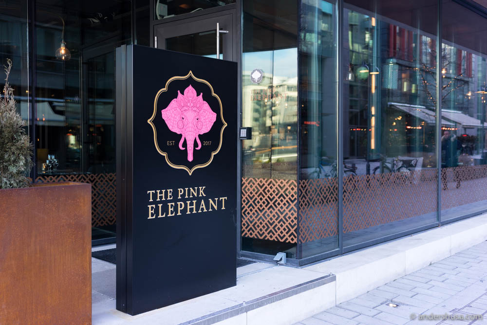 The Pink Elephant restaurant at Tjuvholmen