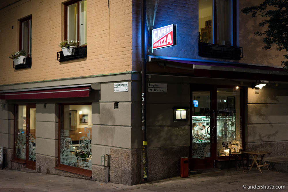 Café Nizza at Södermalm in Stockholm