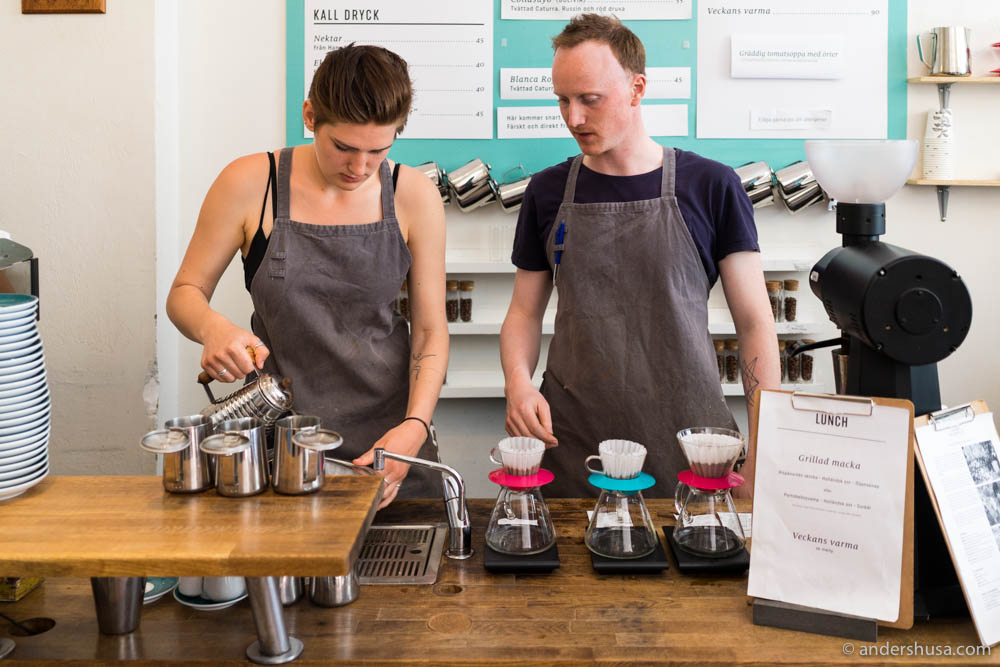 At Drop Coffee they brew with Kalita
