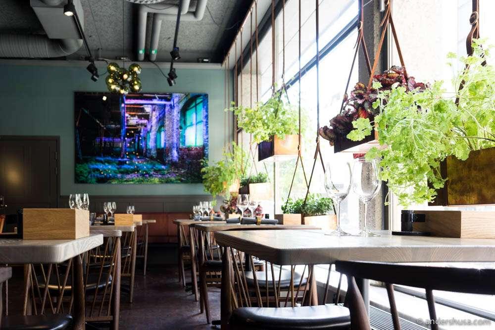 Interior details at restaurant Hantverket in Stockholm