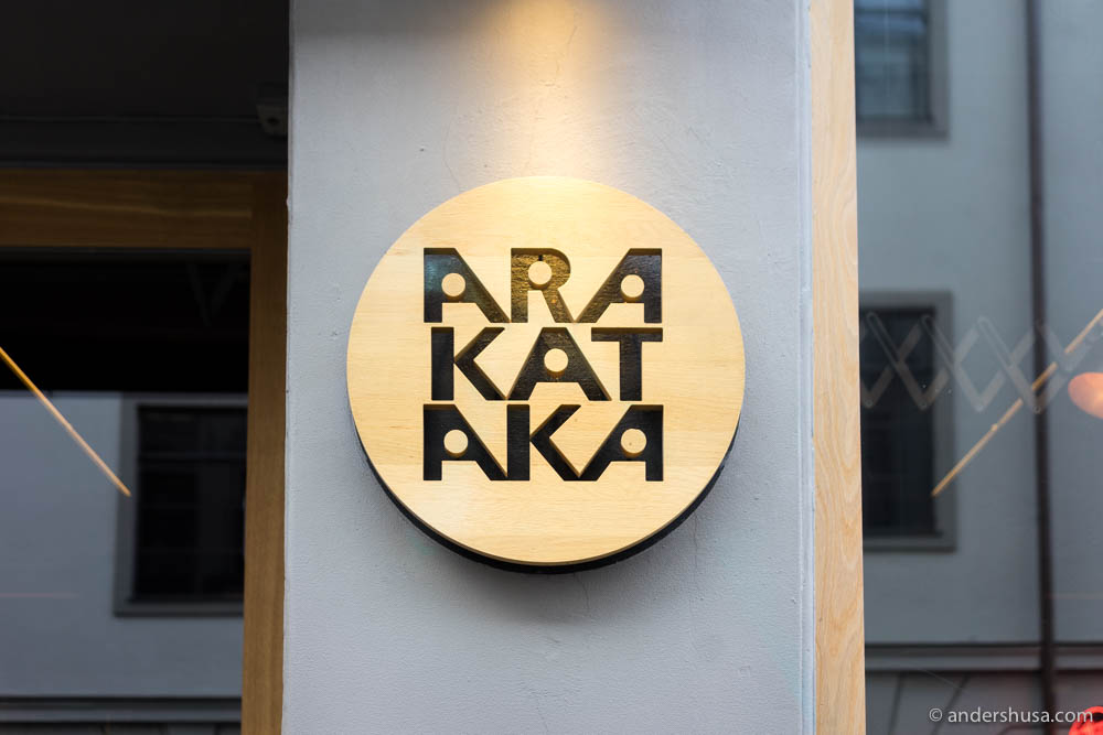 Restaurant Arakataka in Oslo