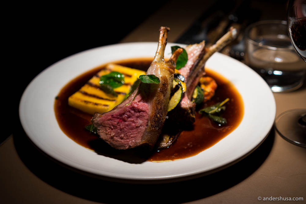 Rack of lamb & polenta