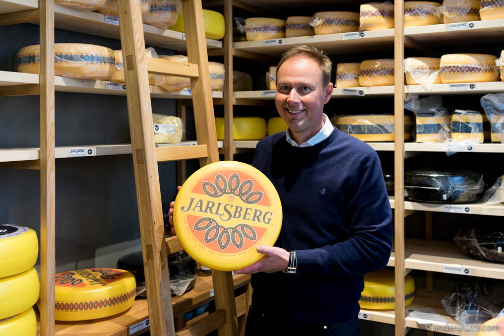 Dairy engineer and cheese judge Ketil Haddeland