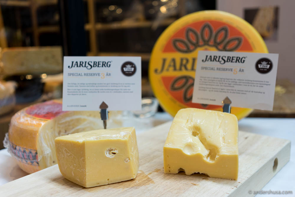 Three- and five-years-old Jarlsberg Cheese