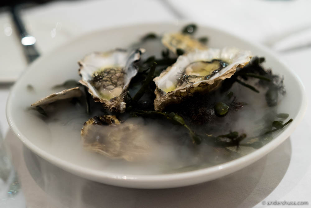 Classic opening dish: oysters!