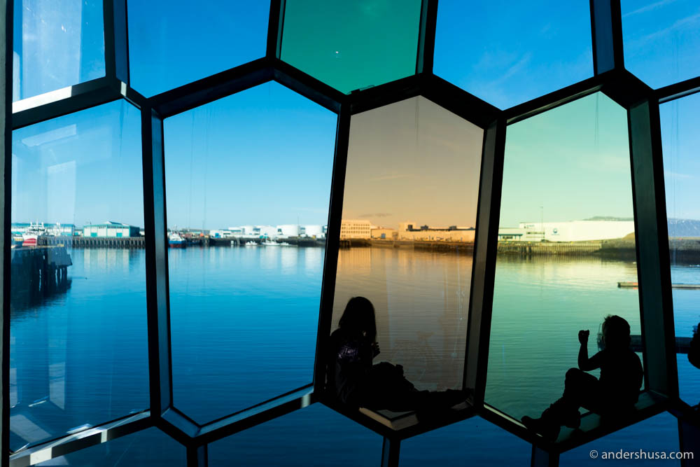 Loving these windows inside Harpa!