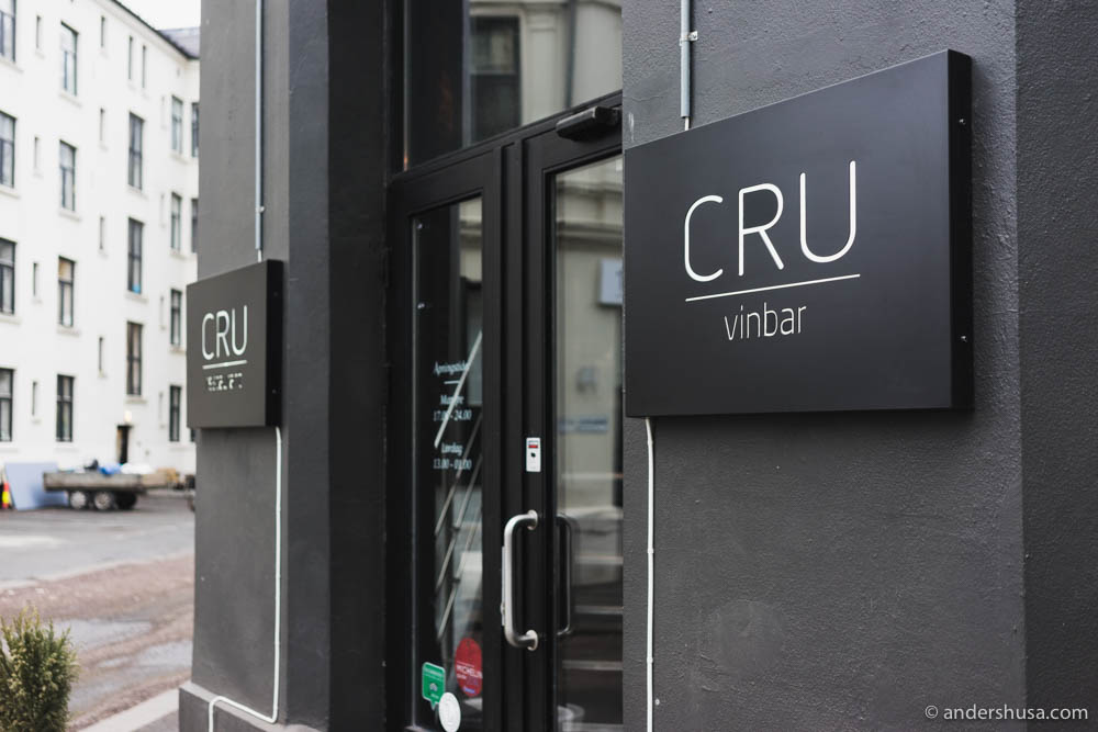 Restaurant Cru on Ingelbrecht Knudssøns gate 1 in Oslo