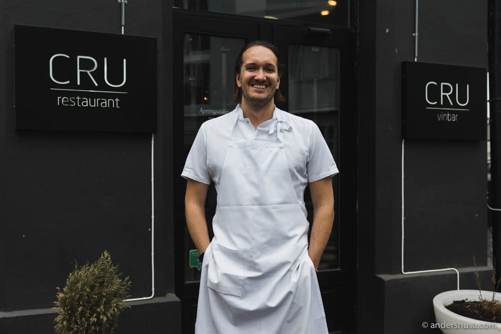 "Head chef and co-owner of restaurant Cru – James Ian Maxwell-Stewart, aka ""Max"""